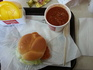 Chicken Sandwich and Chili at Wendy's